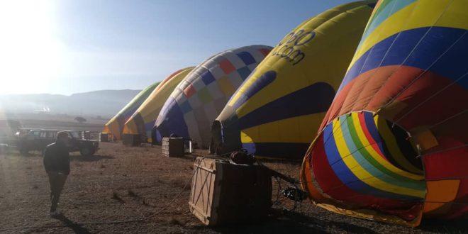 """Campions de l'aeroestació estatal participen en la primera trobada de globus """"Tro'19"""""""