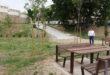Una zona verda permet comunicar Sant Francesc amb el parc de donants de sang