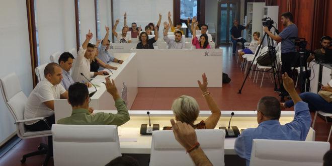 """El Ple aprova per unanimitat demanar que Ontinyent siga """"zona catastròfica"""""""