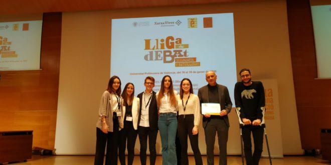 L'IES Josep Segrelles guanya la 1a fase de la Lliga de Debat de Secundària i Batxillerat 2020 a la UPV