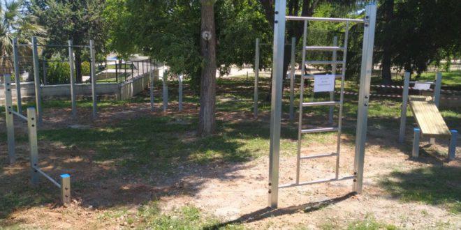 El Poliesportiu d'Ontinyent estrena una nova zona de calistènia