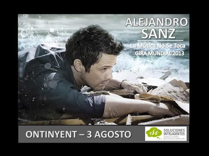 Cartel AlejandroSanz Onteniente 3Agosto