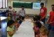 80 xiquetes i xiquets gaudeixen ja de la II Escola d'Estiu Campus d'Ontinyent