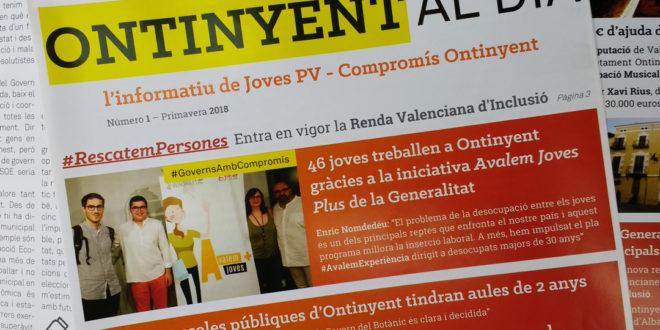 Joves PV – Compromís Ontinyent llança el primer número del butlletí 'Ontinyent al dia'