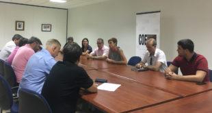 Reunió entre la Plataforma per la Reindustrialització i CC.OO. PV a Ontinyent
