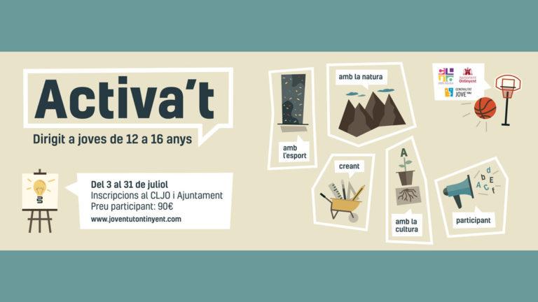 Arriba la quarta edició d'Activa't, el programa d'activitats culturals i d'oci per a joves del CLJO