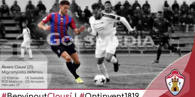 Álvaro Clausí, primer reforç de la 2018/2019
