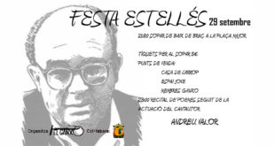 """El col·lectiu """"El Ganxo"""" de Benigànim organitza la V Festa Estellés"""