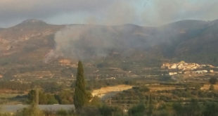 Incendis forestals a Bocairent i Terrateig