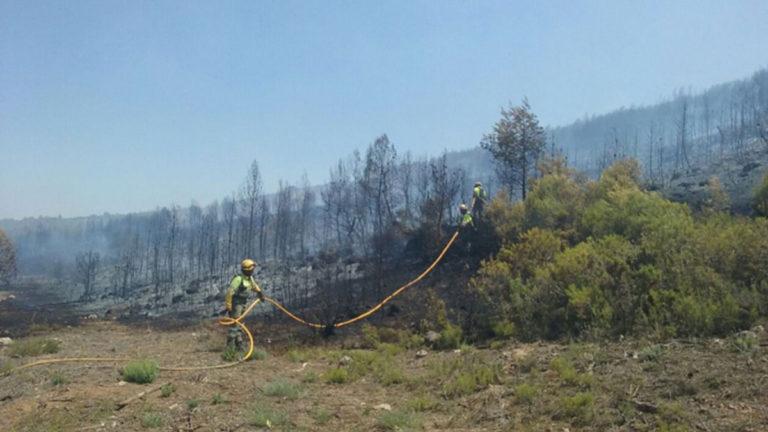 Queda estabilitzat l'incendi forestal de Bocairent