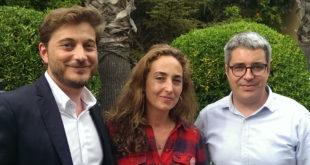 D'esquerra a dreta, Sergio Ramiro, Carolina Punset i Juan Revert.