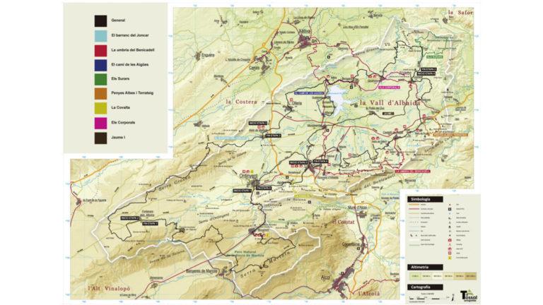 Un projecte de cicloturisme per articular tota la Vall d'Albaida en huit rutes