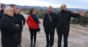 El conseller d'Economia visita les obres de millora del polígon industrial d'Agullent