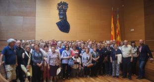 Un centenar de veïns de Bufali, Albaida i Otos visiten la Diputació de València